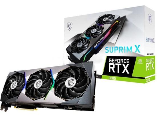 MSI GEFORCE RTX 3080 SUPRIM X 10GB GRAPHICS CARD
