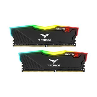TEAMGROUP T-FORCE DELTA RGB 16GB (8GBx2) DDR4 3200MHz (BLACK) (TF3D416G3200HC16CDC01)