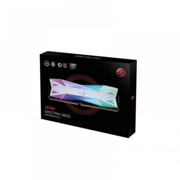 ADATA XPG SPECTRIX D60G 16GB (8GBX2) DDR4  3200MHZ RGB RAM – WHITE (AX4U320038G16A-DW60)