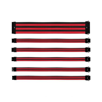 COOLER MASTER UNIVERSAL PSU EXTENSION CABLE KIT (RED/BLACK)(CMA-NEST16RDBK1-GL)