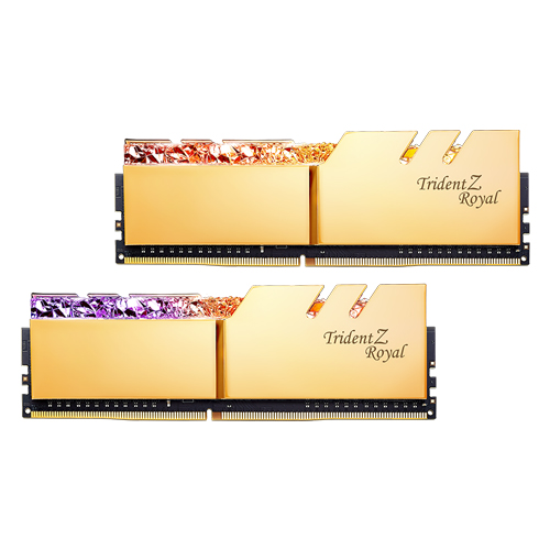 GSKILL TRIDENT Z ROYAL GOLD 32GB(2X16) DDR4 3600MHZ RAM (F4-3600C16D-32GTRGC)