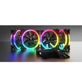GAMDIAS AEOLUS M2-1204R RGB CASE FAN WITH REMOTE CONTROLLER