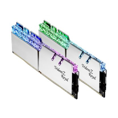 GSKILL TZ ROYAL SILVER SERIES 32GB (16X2) DDR4 3600MHZ RAM (F4-3600C16D-32GTRSC)