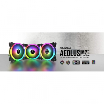 GAMDIAS AEOLUS M2-1203 LITE 3-in-1 TRIO RING 120mm CASE FAN