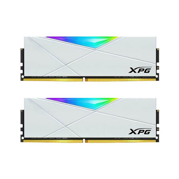 ADATA XPG SPECTRIX D50 RGB 16GB(8GBx2) 3200MHZ WHITE DDR4 RAM (AX4U320038G16A-DW50)