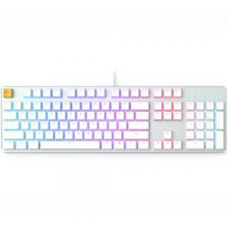 GLORIOUS GMMK RGB MECHANICAL KEYBOARD WHITE ICE (GLO-GMMK-FS-BRN-W)