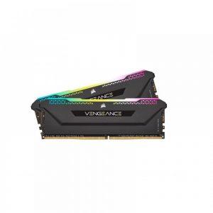 CORSAIR VENGEANCE RGB PRO SL 32GB(16GBX2) DDR4 3200MHZ C16 RAM – BLACK (CMH32GX4M2E3200C16)