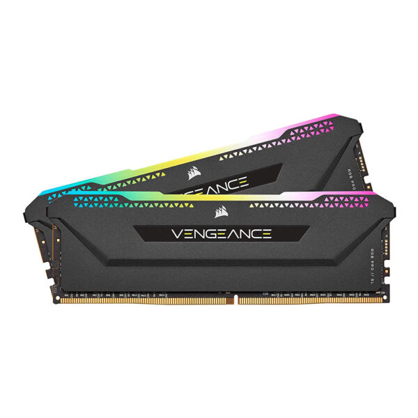 CORSAIR VENGEANCE RGB PRO SL 32GB(16x2) DDR4 3600MHZ RAM (BLACK) (CMH32GX4M2Z3600C18)