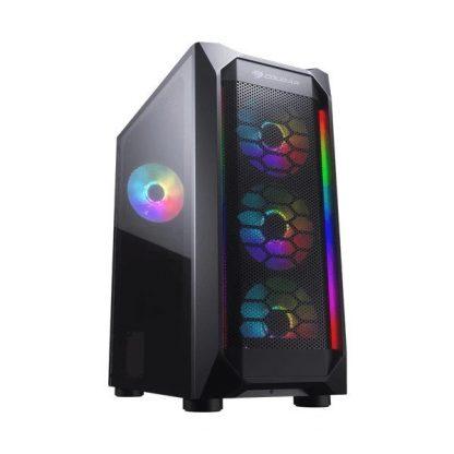COUGAR MX410 MESH-G RGB ATX MID TOWER CABINET (BLACK) (CGR-5VM6B-MESH-G-RGB)