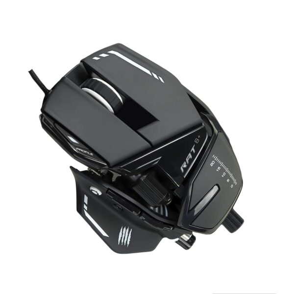 MAD CATZ THE AUTHENTIC R.A.T. 8+ WIRED GAMING MOUSE (MR05DCINBL000-0)