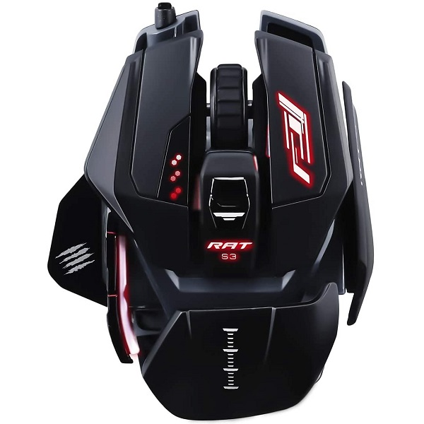 MAD CATZ THE AUTHENTIC R.A.T PRO S3 RGB WIRED GAMING MOUSE (MR03DCINBL000-0)