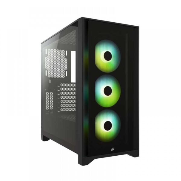 CORSAIR ICUE 4000X RGB TEMPERED GLASS MID-TOWER ATX CABINET - BLACK (CC-9011204-WW)