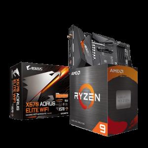 AMD RYZEN 9 5950X & GIGABYTE X570 AORUS ELITE WIFI COMBO
