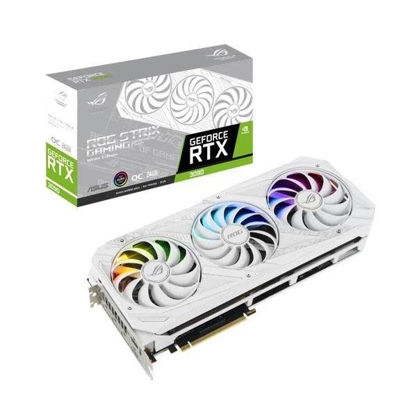 ASUS ROG STRIX RTX 3090 WHITE OC 24GB GRAPHICS CARD