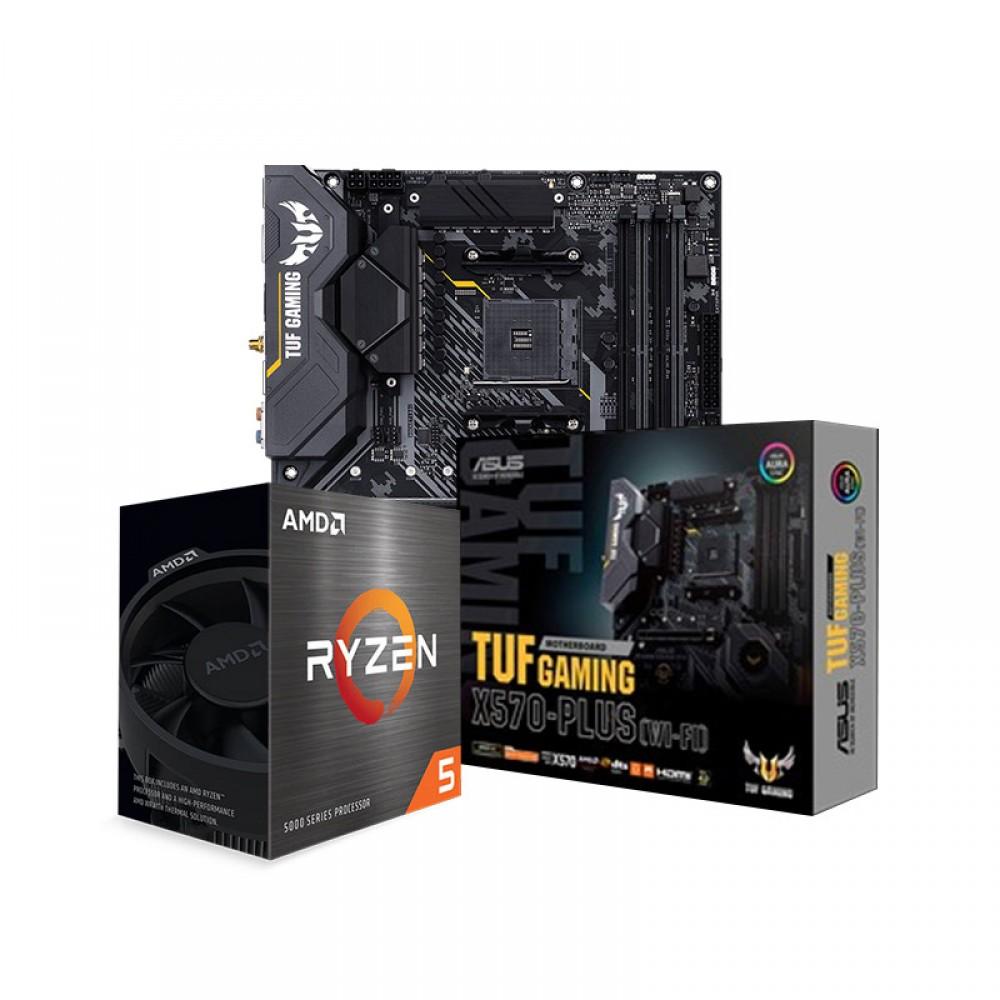 AMD RYZEN 5 5600X PROCESSOR AND ASUS TUF GAMING X570-PLUS (WI-FI) MOTHERBOARD COMBO