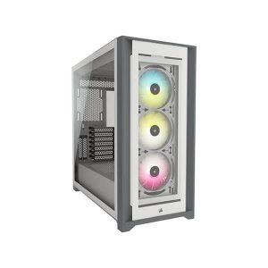 CORSAIR ICUE 5000X RGB MID TOWER CABINET (WHITE) (CC-9011213-WW)