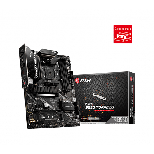 MSI MAG B550 TORPEDO AMD AM4 ATX MOTHERBOARD