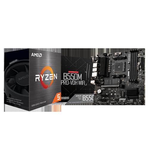 MSI B550M PRO VDH WIFI & AMD RYZEN 5 5600X COMBO