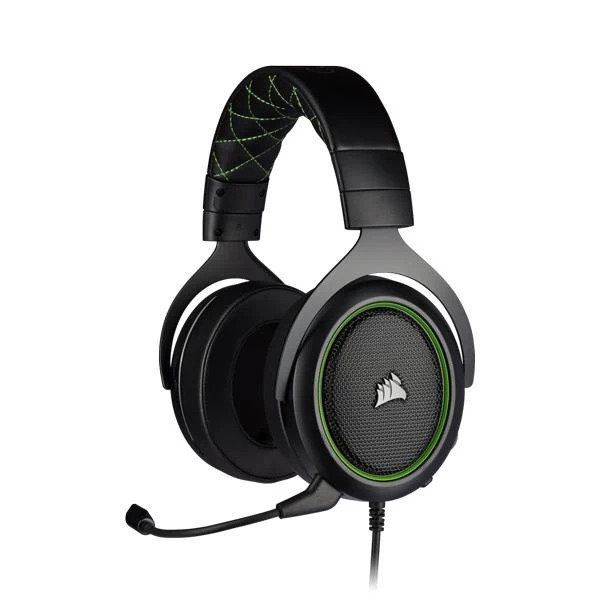 CORSAIR HS50 PRO STEREO OVER EAR GAMING HEADSET WITH MIC (GREEN) (CA-9011216-AP)