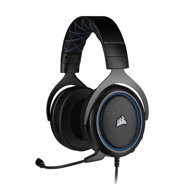CORSAIR HS50 PRO STEREO OVER EAR GAMING HEADSET WITH MIC (BLUE) (CA-9011217-AP)