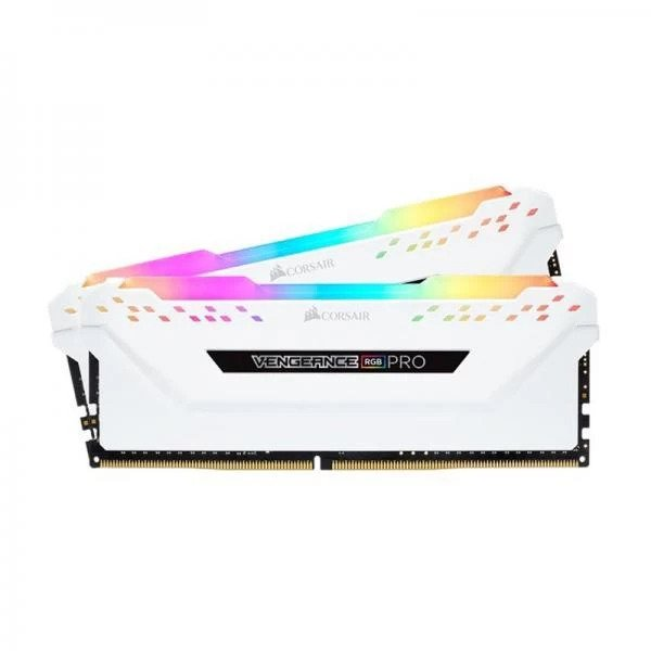 CORSAIR VENGEANCE RGB PRO 32GB (16GBx2) DDR4 3000MHz RAM WHITE (CMW32GX4M2C3000C15W)