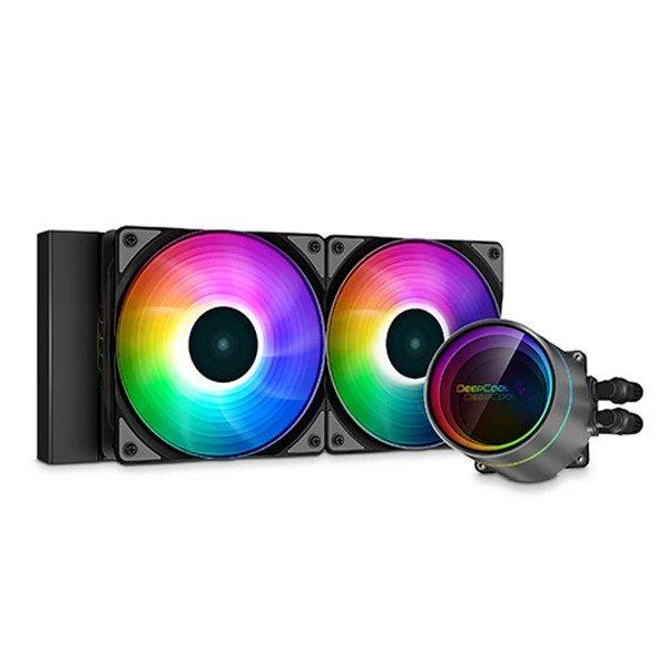 DEEPCOOL GAMRSTOR CASTLE 240EX ARGB CPU LIQUID COOLER (DP-GS-H12W-CSL240EX-AR)