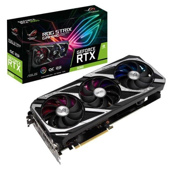 ASUS ROG STRIX GAMING RTX 3060 V2 OC LHR 12GB GRAPHICS CARD