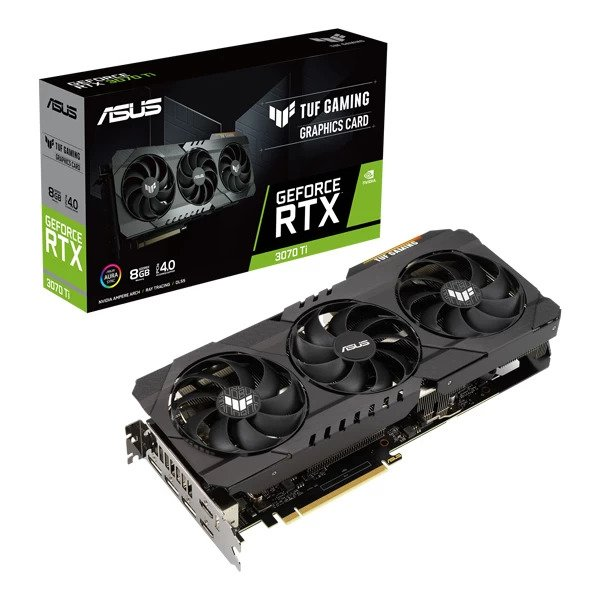 ASUS TUF GAMING RTX 3070 TI 8GB GRAPHICS CARD (90YV0GY1-M0NA00)