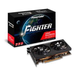 POWERCOLOR RX 6600 XT FIGHTER 8GB GDDR6 GRAPHICS CARD (AXRX-6600XT-8GBD6-3DH)