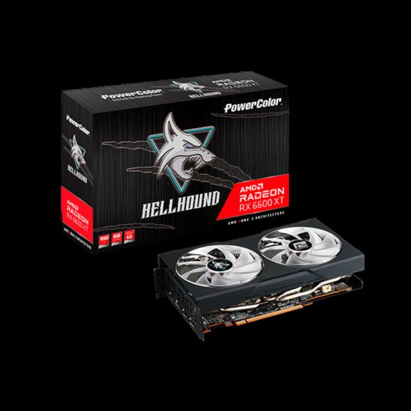 POWERCOLOR RX 6600 XT HELHOUND 8GB GRAPHICS CARD (AXRX-6600XT-8GBD6-3DHL)