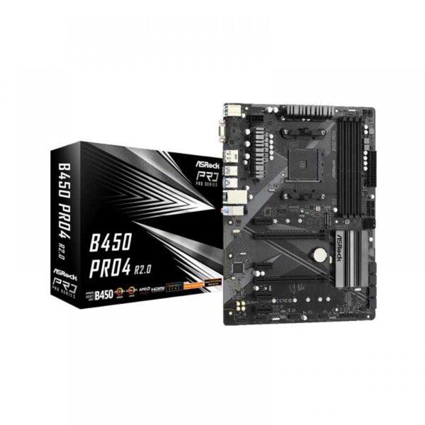 ASROCK B450 PRO4 R2.0 AMD AM4 ATX MOTHERBOARD