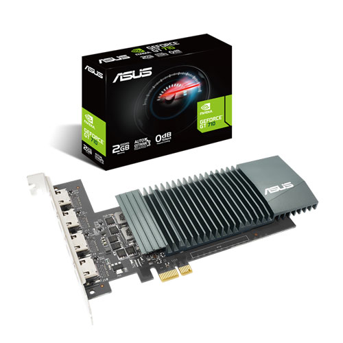 ASUS GEFORCE GT 710 WITH 4 HDMI PORTS 2GB GDDR5 GRAPHICS CARD (GT710-4H-SL-2GD5)