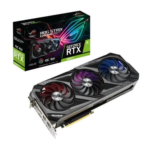 ASUS ROG STRIX GAMING RTX 3060 TI V2 OC LHR 8GB GRAPHICS CARD