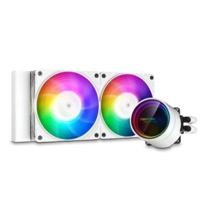 DEEPCOOL GAMERSTORM CASTLE 240EX WHITE ARGB CPU LIQUID COOLER (DP-GS-H12W-CSL240EX-AR-WH)