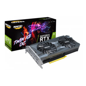 INNO3D RTX 3060 TI TWIN X2 OC LHR 8GB GRAPHICS CARD (N306T2-08D6X-119032DH)