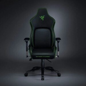 RAZER ISKUR GAMING CHAIR WITH BUILT-IN LUMBAR SUPPORT (BLACK-GREEN) (RZ38-02770100-R3U1)