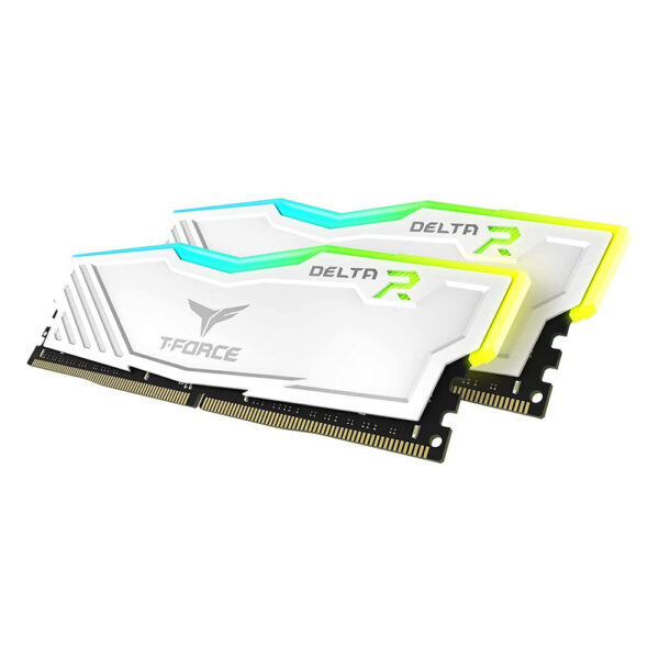 TEAMGROUP T-FORCE DELTA RGB DDR4 32GB(2x16GB) 3200MHz RAM (WHITE) (TF4D432G3200HC16FDC01)