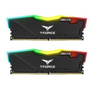 TEAMGROUP DELTA RGB 32GB(2X16GB) 3600MHz RAM (BLACK) (TF3D432G3600HC18JDC01)