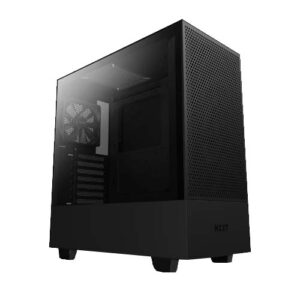 NZXT H510 FLOW COMPACT ATX MID TOWER CABINET (BLACK) (CA-H52FB-01)