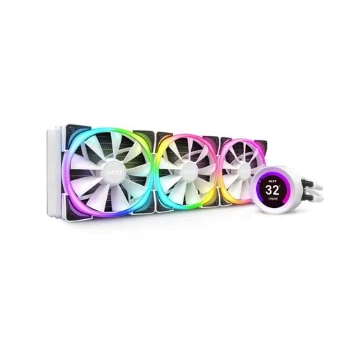 NZXT KRAKEN Z73 RGB 360mm WHITE LIQUID COOLER WITH LCD DISPLAY (RL-KRZ73-RW)